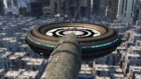 Futuristic city Stock Photos