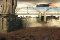 Futuristic city Stock Images
