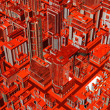 Futuristic City Stock Photography