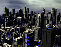 Futuristic city Royalty Free Stock Photo