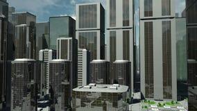 Futuristic City Flight Ascending stock video footage