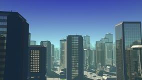 Futuristic City Flight stock footage