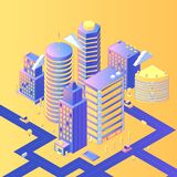Futuristic city isometric vector illustration vector illustration