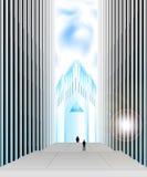 Futuristic city landscape Stock Photo