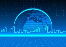 Futuristic city. technology concept design.  Stock Photos