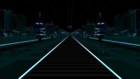 Futuristic City To Greenscreen stock video
