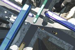 Futuristic City Transportation 3 Stock Images