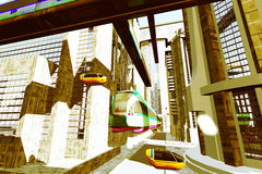 Futuristic City Transportation 5 Stock Images