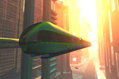 Futuristic City Transportation 6 Royalty Free Stock Image