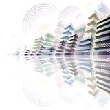 Futuristic cityscape. Royalty Free Stock Image