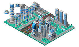 Futuristic Cityscape Isometric Template Royalty Free Stock Photo
