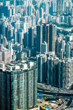 Futuristic cityscape with skyscrapers. Hong Kong Royalty Free Stock Photos