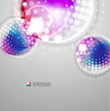 Futuristic colorful circles Stock Image