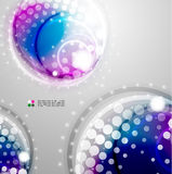 Futuristic colorful circles Stock Images