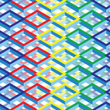 Futuristic Colorful Isometric Square Background royalty free stock photo
