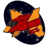 Futuristic combat starship Stock Photography