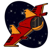 Futuristic combat starship Stock Images