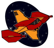 Futuristic combat starship Royalty Free Stock Image