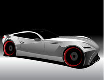 Futuristic concept car. Vectorized image of a concept futuristic sports car Stock Photos