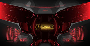Futuristic concept ui for helmet. Head-up display template. View from the helmet with HUD elements royalty free illustration