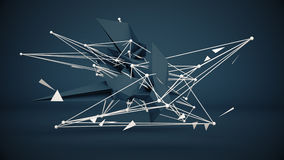 Futuristic construction abstract 3D Render Royalty Free Stock Images