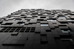 Futuristic and Contemporary Building in Modern City royalty free stock image