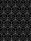 Futuristic continuous black pattern, illusive motif abstract Royalty Free Stock Images