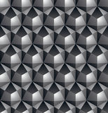 Futuristic continuous black and white pattern, illusive motif ab Stock Photos