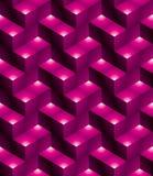 Futuristic continuous multicolored pattern, illusive motif abstr Stock Photos