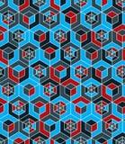 Futuristic continuous multicolored pattern, illusive motif abstr Stock Photography