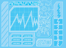 Futuristic Control Panel One Stock Image