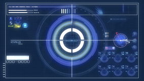 Futuristic control panel and scifi controls stock illustration