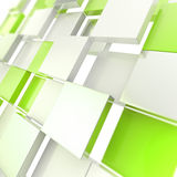 Futuristic copyspace background of cubic plates. Futuristic copyspace background made of green chaotic cubic plates stock illustration