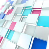 Futuristic copyspace background of cubic plates Royalty Free Stock Photography