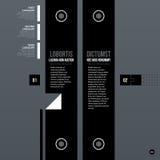 Futuristic corporate web template Royalty Free Stock Image