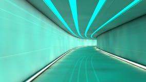 Futuristic corridor Stock Image