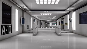 Futuristic corridor Royalty Free Stock Photography