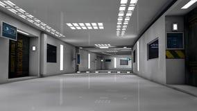 Futuristic corridor Royalty Free Stock Images