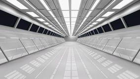 Futuristic corridor. 2d design of a Futuristic corridor Royalty Free Stock Photo