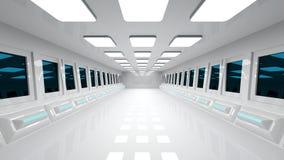 Futuristic corridor Royalty Free Stock Photos