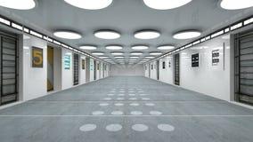 Futuristic corridor. 3d design of Futuristic corridor Stock Image