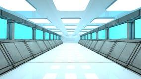 Futuristic corridor. 3d design of Futuristic corridor Stock Photos