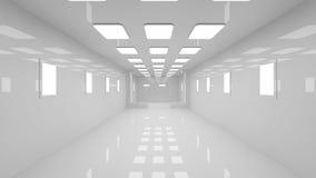 Futuristic corridor. 3d design of Futuristic corridor Royalty Free Stock Images
