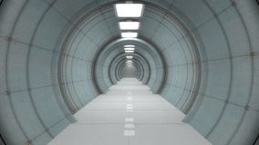 Futuristic corridor Royalty Free Stock Photos