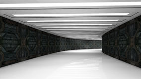 Futuristic corridor Royalty Free Stock Photo