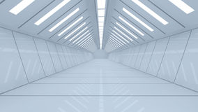 Futuristic corridor Stock Photo