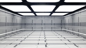 Futuristic corridor Stock Photos