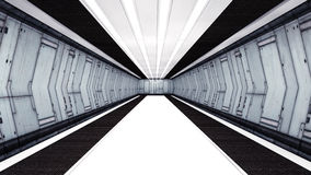 Futuristic corridor Royalty Free Stock Photo