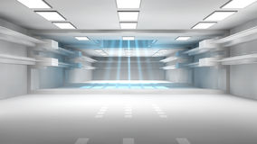 Futuristic corridor Royalty Free Stock Photography