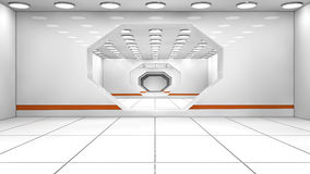 Futuristic corridor Stock Photography